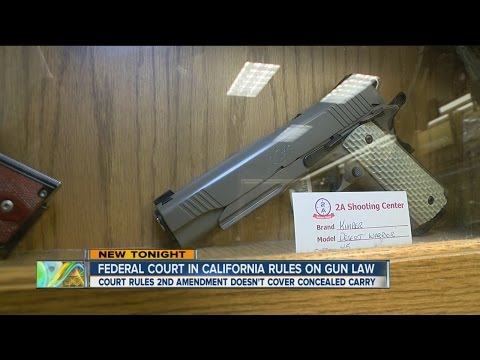 Federal Court In California Rules On Gun Law