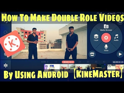 How To Make Double Role Video In Android?