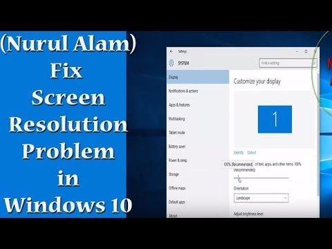 (Nurul Alam) | Fix Screen Resolution Problem in Windows 10 | Windows 10 Low Screen Resolution Fix