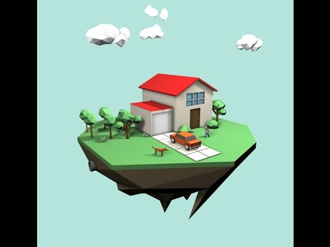 low poly house tutorial blender
