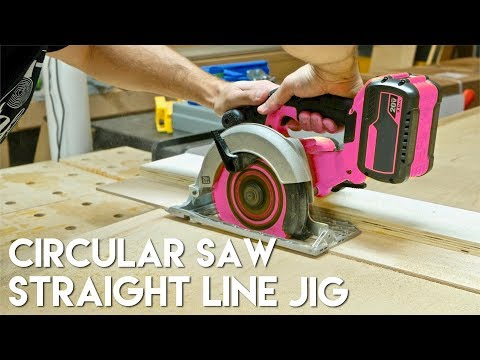 Straight Cuts With A Circular Saw - Straight Line Jig | Woodworking Quick Tips