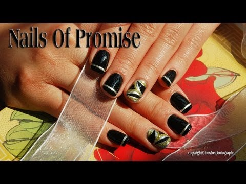 Black Magic. Easy Nail Tutorial Step By Step.Nails Of Promise