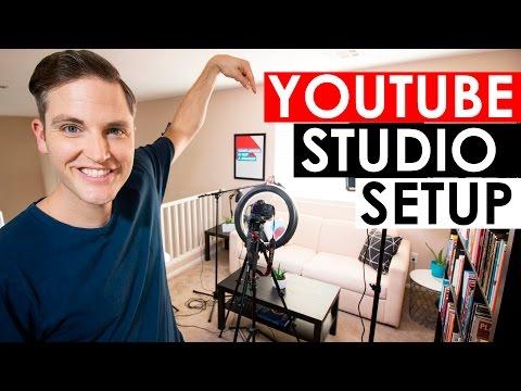 YouTube Studio Setup - Home Video Studio Setup and Tour