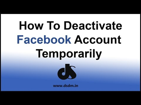 How To Deactivate My Facebook Account Temporarily