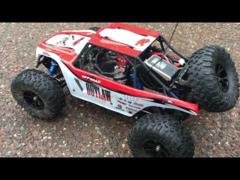 FTX Outlaw (Brushless)   DiY Rear Sway Bar Test and Speed Trial 3 (see desc')