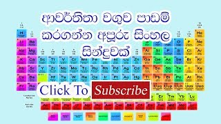 The periodic table sinhala song music jinni periodic table sinhala song to know the secret click the link on the description urtaz Image collections
