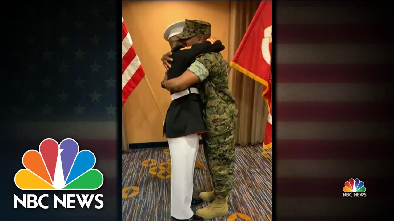 Father Honors Son With Emotional Military Salute | NBC Nightly News