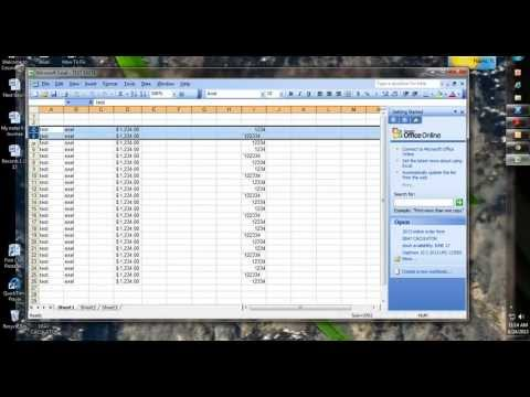 How To -Excel 2003 Shading Alternate Lines Fast and Easy