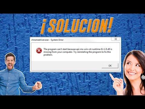 ¡COMO RESOLVER EL ERROR! api-ms-win-crt-runtime-l1-1-0.dll (64bits)