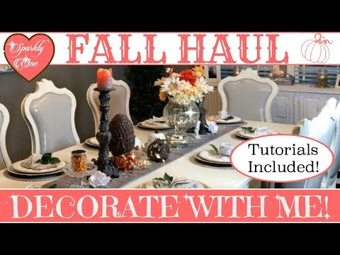 Fall Haul 🍁 Decorate With Me! 🍂My Fall Tablescape