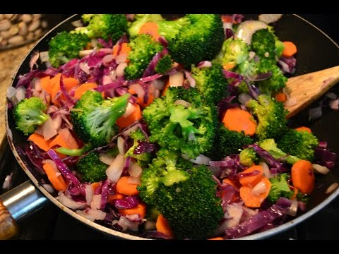 How to make Easy Home made vegetable stir fry recipe - Meatless Monday