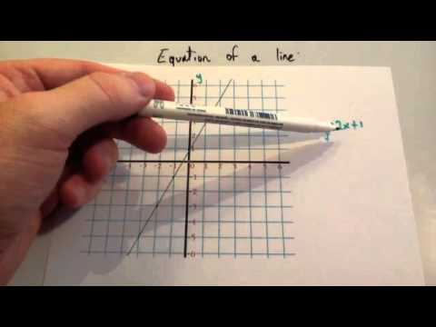 Equation of a line - Corbettmaths