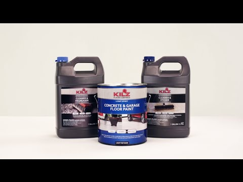 KILZ® Concrete & Garage Floor Paint Product Information