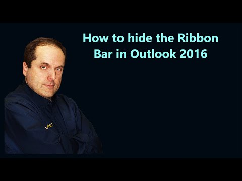 How to hide the Ribbon Bar in Outlook 2016