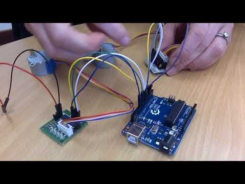 How to wire and code 28BYJ-48 Stepper Motors with an Arduino - Part 1