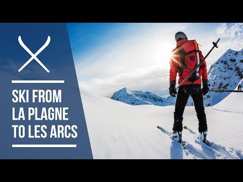 How to ski from La Plagne to Les Arcs   Ski Route Guide   Iglu Ski