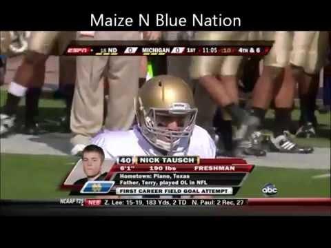 Notre Dame vs Michigan 2009 Highlights