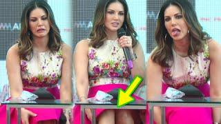 Oops Sunny Leone Skirt Flies Wardrobe Malfunction
