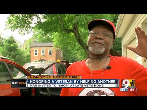 Family honors veteran by helping another