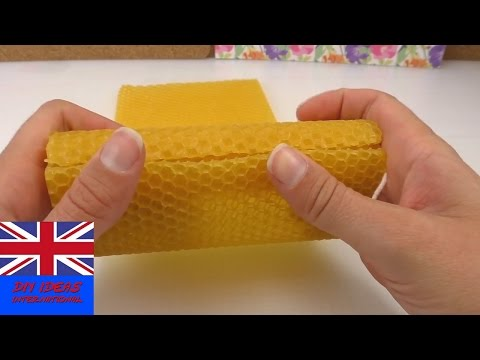 DIY beeswax candles making - easy selfmade candles - diy candles decoration