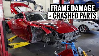 Here's ALL the Damage on my Crashed 350Z!