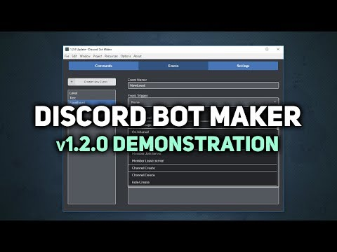 Discord Bot Maker v1.2.0 Update Demonstration