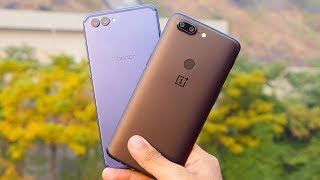 OnePlus 5T vs Honor V10 Full Comparison with Camera [4K]