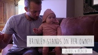 BRINLEY STANDS ON HER OWN?! | Acacia & Jairus