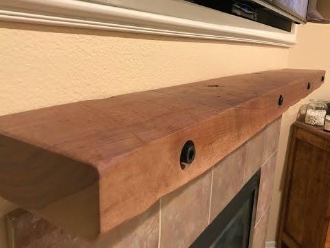 The Saw Table: DIY Walnut Mantel 003