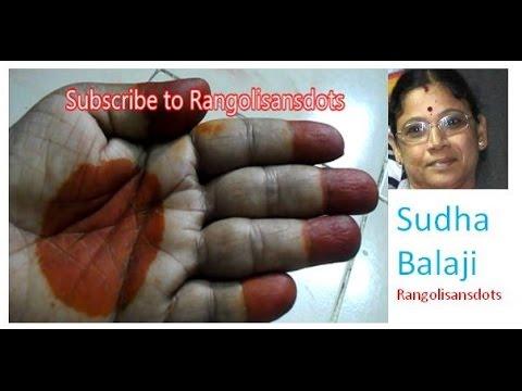 Preparing Marudhani -  traditional mehndi designs for  hands (Tamil ) | Sudha Balaji