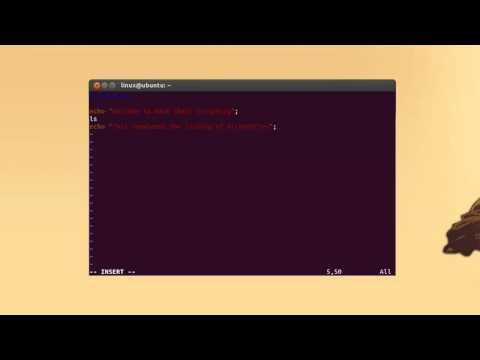 How to Write a Shell Script using Bash Shell in Ubuntu