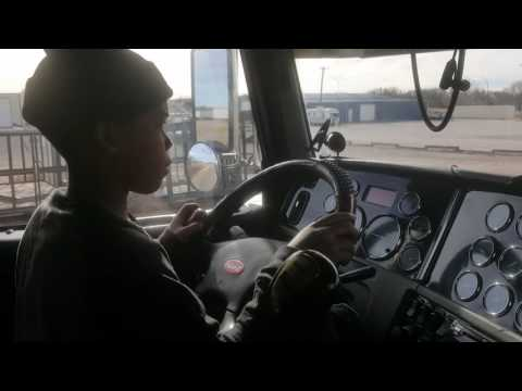 11 yrs old driving semi truck