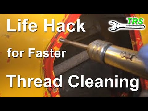 How to Clean Threads using a Hand Held Drill (Amended Version)