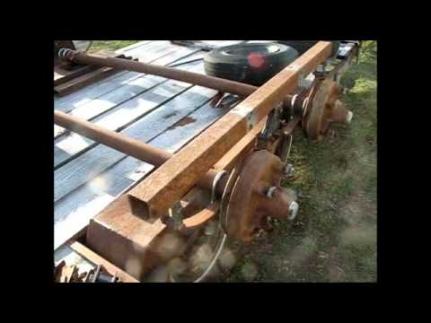 Building tandem axles for the rat rod trailer 4