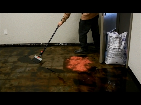 How to remove black mastic or carpet glue from a concrete floor - www.sealgreen.com - 800-997-3873