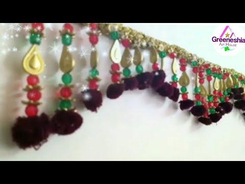 DIY - How to make Door Hanging Toran | How to make easy toran for diwali | Toran making at home easy