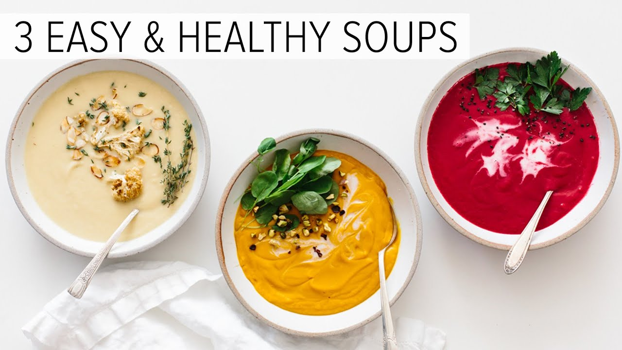 EASY & HEALTHY SOUP RECIPES | vitamix soup recipes
