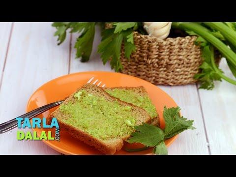 Celery Garlic Toast (Diabetic and Healthy Heart Recipe) by Tarla Dalal