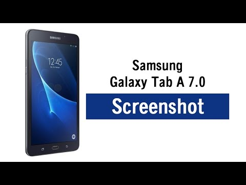 Galaxy Tab A 7 0 - How to Take a Screenshot