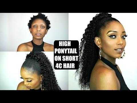 SLEEK HIGH BUN TUTORIAL ON SHORT 4C NATURAL HAIR | Ali Annabelle