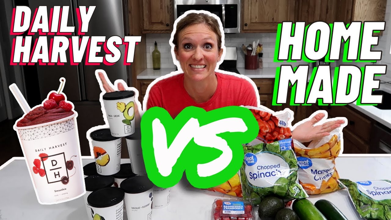 IS FREEZER MEAL PREP WORTH THE TIME? | DAILY HARVEST VS. HOMEMADE | COOK WITH ME COPYCAT RECIPES