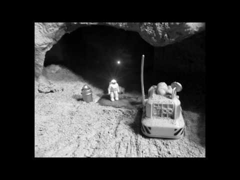 Moon Exploration Diorama Lunar Lava Tube and Impact Crater