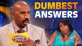 DUMBEST ANSWERS EVER! Steve Harvey is SPEECHLESS! | Family Feud