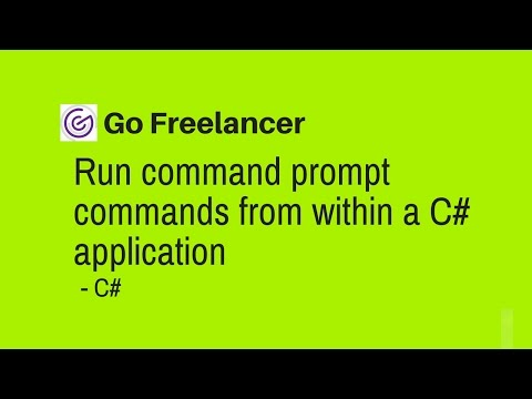 run command prompt commands from within a C# application