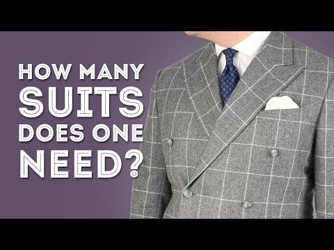 How Many Suits Does A Man Really Need? & What Suit Style & Color To Buy - Gentleman's Gazette