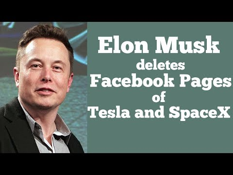 Elon Musk deletes Facebook pages of Tesla and SpaceX after Twitter Challenge