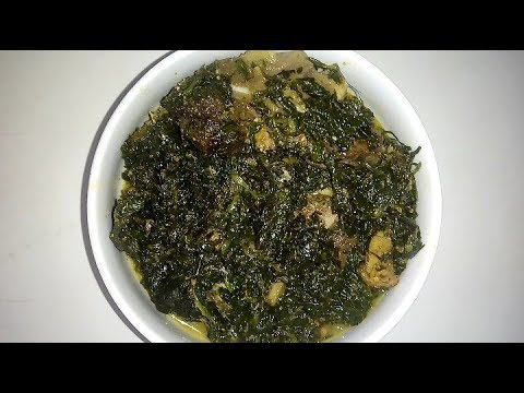 How To  Make Nigerian Afang Soup