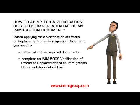 How to apply for a Verification of Status or Replacement of an Immigration Document?