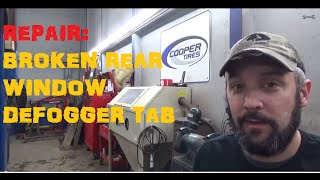 Rear Window Defroster Tab Repair