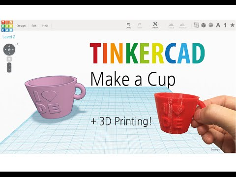 9) Make a cup by Tinkercad + 3D printing